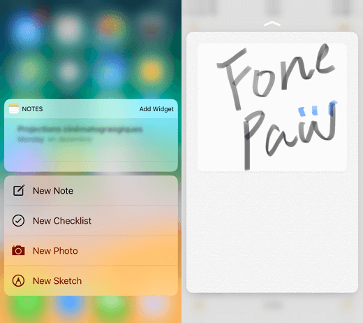 3D Touch Notes