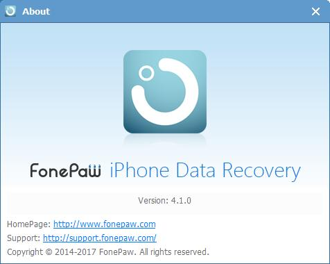 iPhone Data Recovery 4.1.0