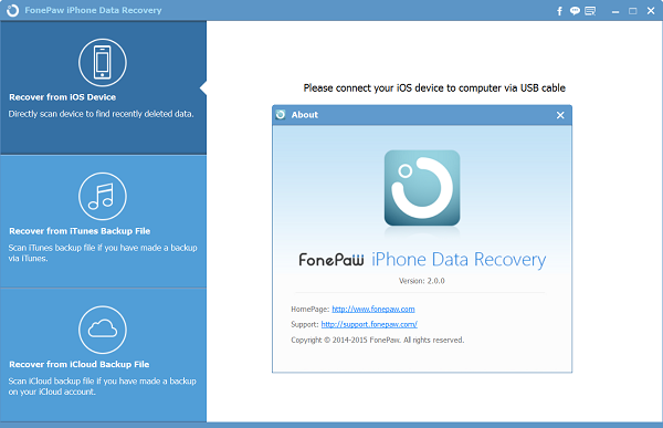 About iPhone Data Recovery 2.0.0