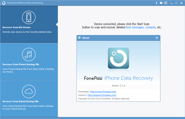 About iPhone Data Recovery 2.1.0
