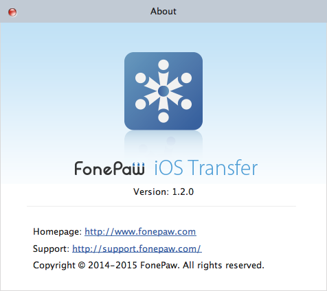 About Mac Version of FonePaw iOS Transfer