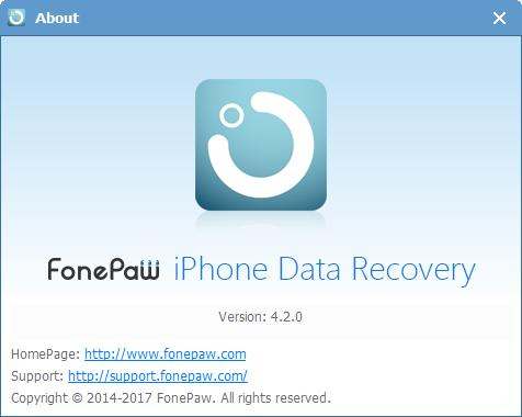 FonePaw iPhone Data Recovery 4.2.0