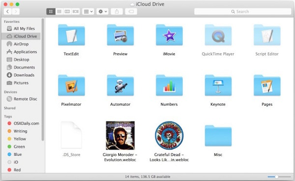 Access iCloud Drive Files on Mac