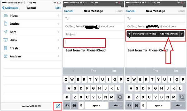 Add Attachment to iPhone Email