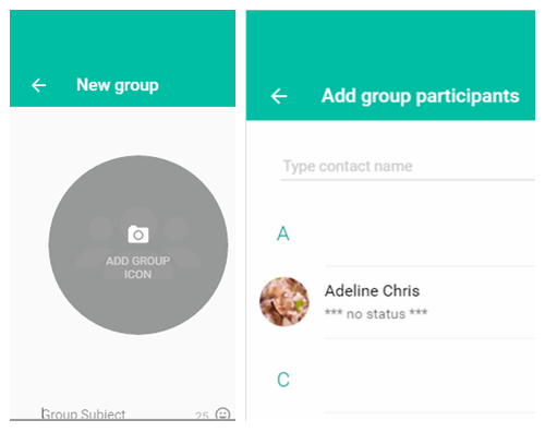 Create New Group on WhatsApp Web