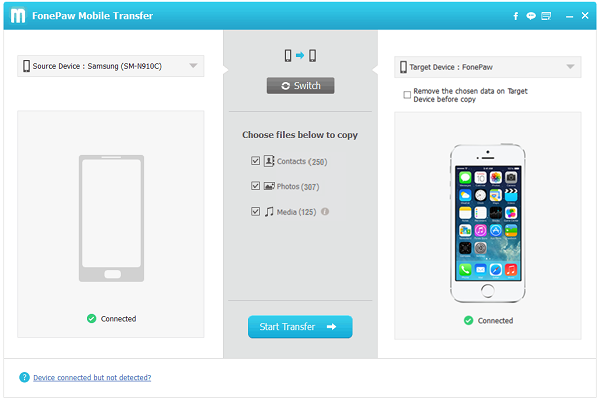 Android Files to iPhone Transfer