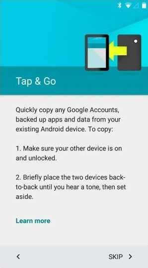 Tap & Go on Android