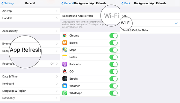 Background App Refresh WiFi