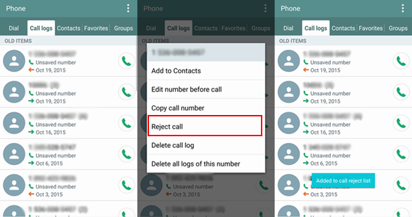 How to add android calls to blacklist block unsaved calls on lg ccuart Gallery