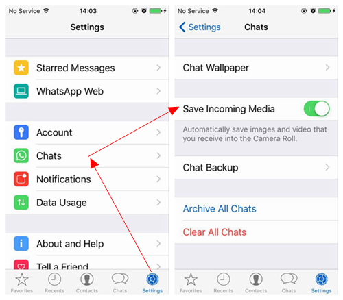 Go to Settings Chats on WhatsApp