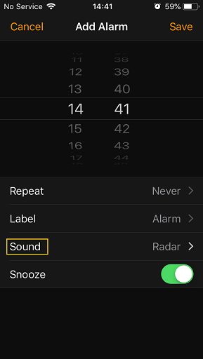 Check Alarm Sound on iPhone