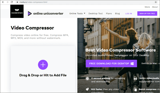 Compress Videos Online With Mediaio