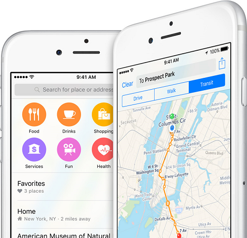 iPhone Contacts Map