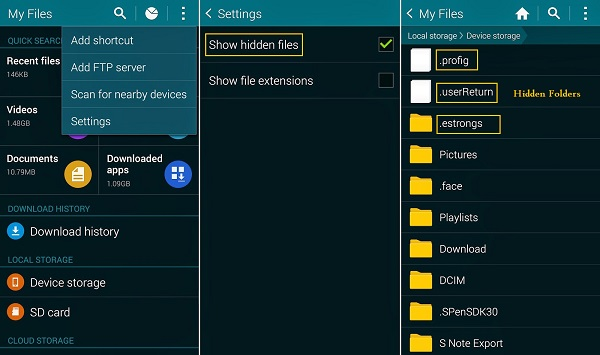 Create Hidden Folders on Android