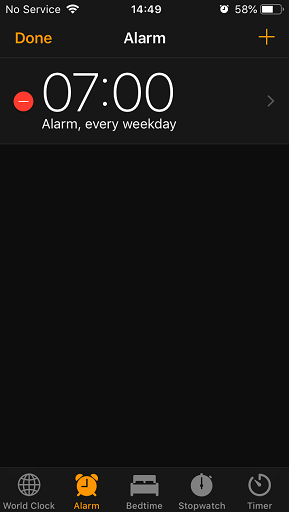 Delete Alarm on iPhone