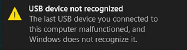 Device Not Recognized