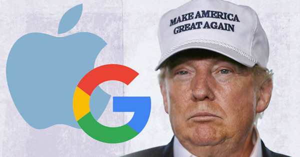 Donald Trump Bashing Google Apple