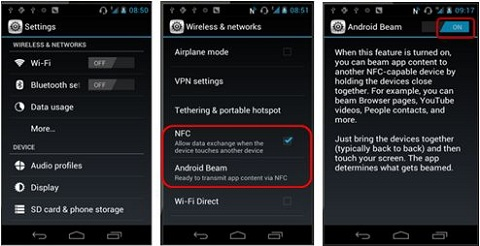 Enable NFC on Android