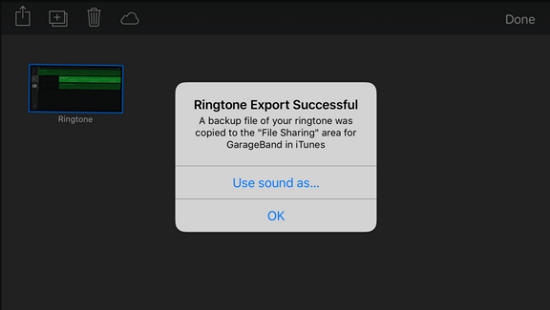Export IPhone Ringtone