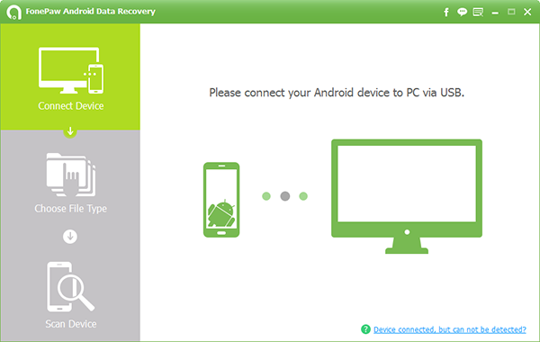 The Main Interface of FonePaw Android Data Recovery