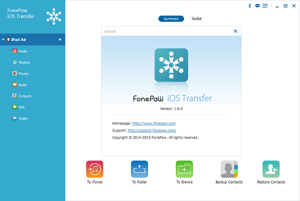 FonePaw iOS Transfer 1.6.0