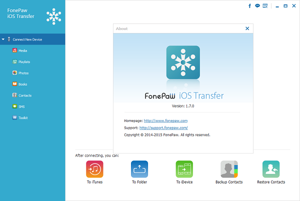FonePaw iOS Transfer 1.7.0