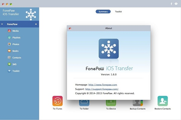 FonePaw iOS Transfer (Mac) V1.6.0