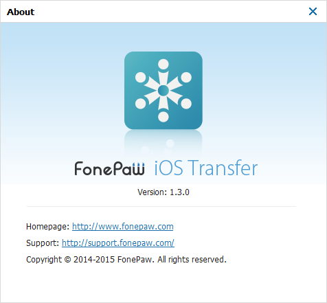 FonePaw iOS Transfer Version 1.3.0