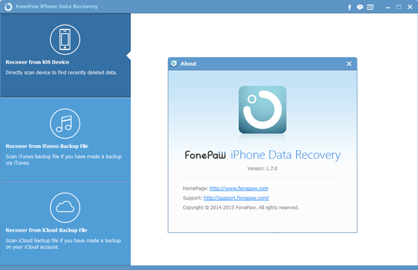 FonePaw iPhone Data Recovery V1.7.0