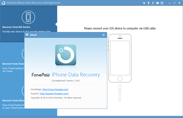 FonePaw iPhone Data Recovery New Version 1.8.0 Released