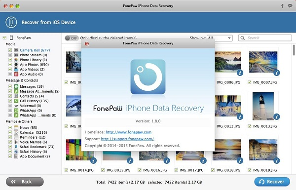 FonePaw iPhone Data Recovery Mac 1.8.0