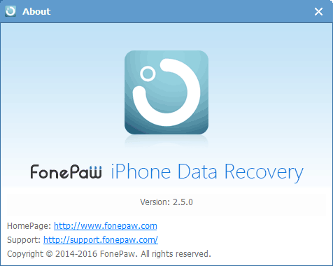 FonePaw iPhone Data Recovery V2.5