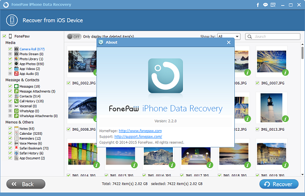 FonePaw iPhone Data Recovery Windows 2.2.0