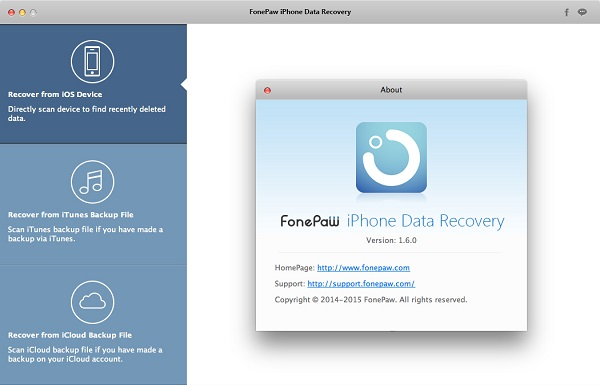 FonePaw Mac iPhone Data Recovery 1.6.0