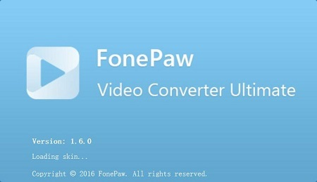 FonePaw Video Converter Ultimate 1.6.0