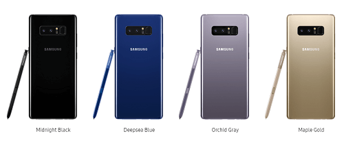 Galaxy Note 8 Color Variants