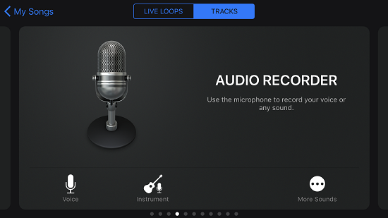 GarageBand Audio Recorder