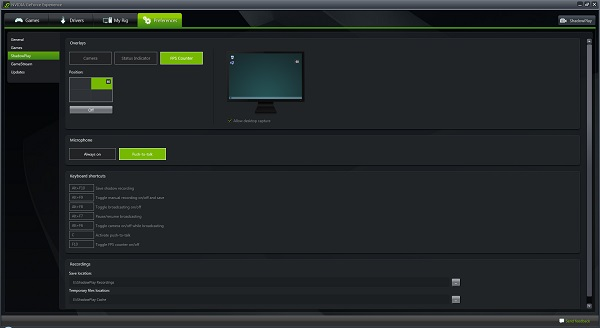 Geforce Experience FPS Counter