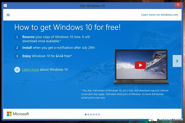 Get Windows 10 for Free