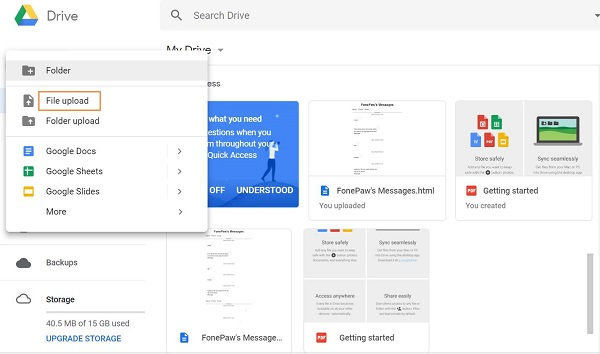 Open PSD with Google Drive