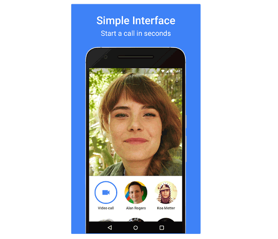 Google Duo Simple Interface