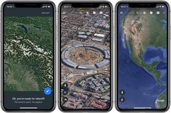 Google Earth for iPhone XS