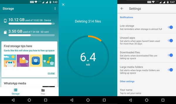 Google Files Go Deleting Unused Apps