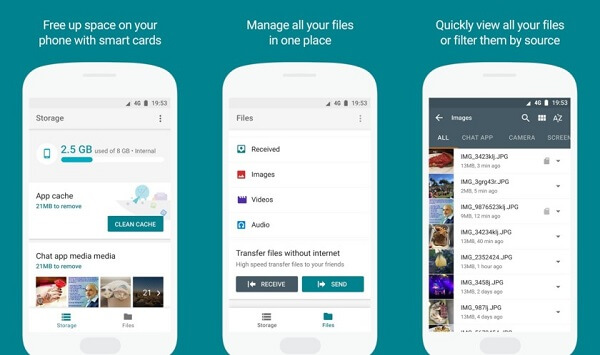 files go by google free up space on your phone