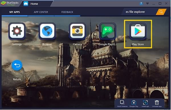 Play Store in Bluestacks