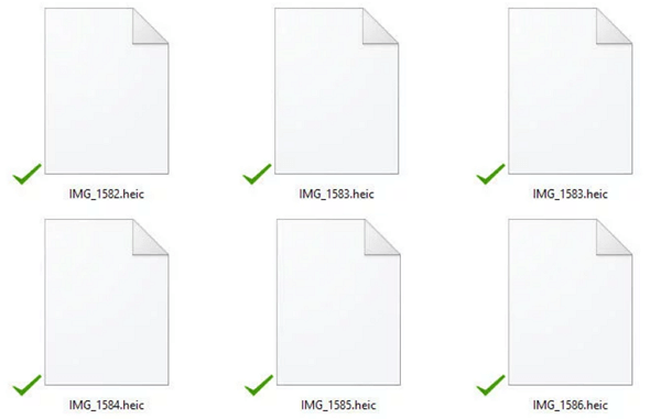 HEIC Files on Computer