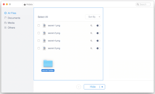 Drag and Drop Files to Hide
