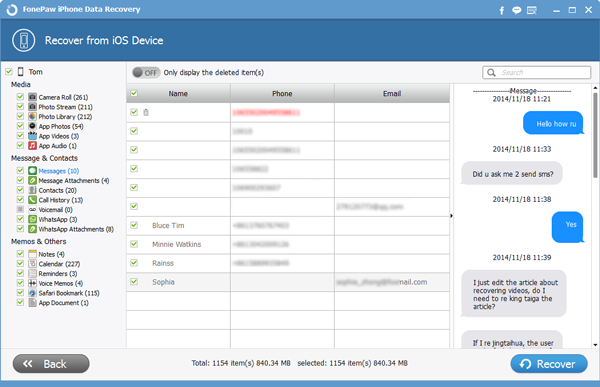 Recover iMessages from iPhone