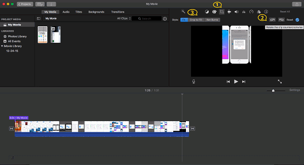 Rotate Video in iMovie