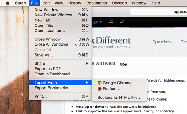 How to Import Bookmarks from Chrome to Safari